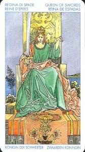 Королева Масть Мечей Универсальное Таро Артура Уайта (Роберто Де Анджелис)