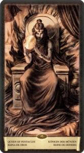 Королева Масть Пентаклей Таро Черный Гремуар Некрономикон