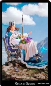 Королева Масть Мечей Колдовское Таро Элен Дюген