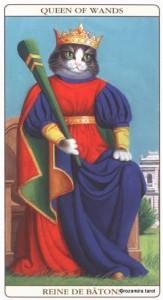 Королева Жезлов Таро Марсельских кошек (Marseille Cat Tarot)