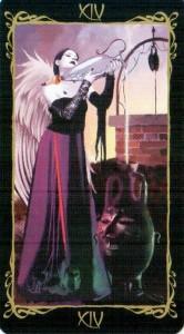 14 Умеренность Таро Темных Ангелов