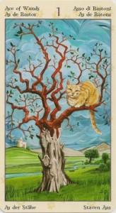 Туз Масть Жезлов Таро Языческих Кошек (Tarot of Pagan Cats)