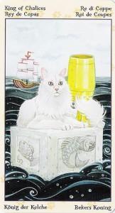Король Кубков Таро Языческих Кошек (Tarot of Pagan Cats)