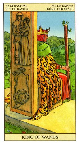 Король Масть Жезлов Таро Нью Вижн (Tarot of the New Vision)