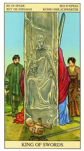 Король Масть Мечей Таро Нью Вижн (Tarot of the New Vision)
