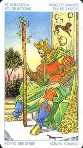 Король Масть Жезлов Универсальное Таро Артура Уайта  (Роберто Де Анджелис)