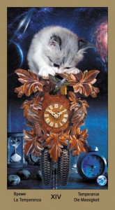 "14 Умеренность Таро ""Катавасия"" (Tarot Cat-A-Vasya)"