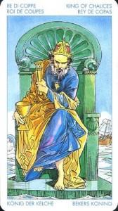 Король Масть Кубков Универсальное Таро Артура Уайта (Роберто Де Анджелис)