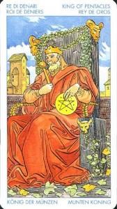 Король Масть Пентаклей Универсальное Таро Артура Уайта (Роберто Де Анджелис)