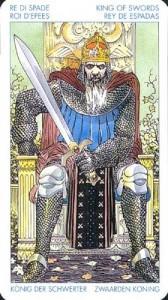 Король Масть Мечей Универсальное Таро Артура Уайта (Роберто Де Анджелис)