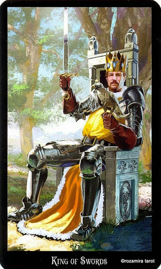 Король Масть Мечей Колдовское Таро Элен Дюген
