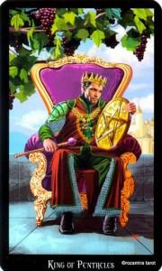 Король Масть Пентаклей Колдовское Таро Элен Дюген