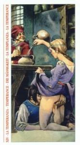 14 Умеренность - Таро Декамерон - галерея карт