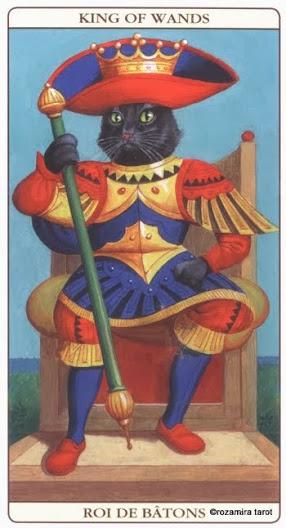 Король Жезлов Таро Марсельских кошек (Marseille Cat Tarot)