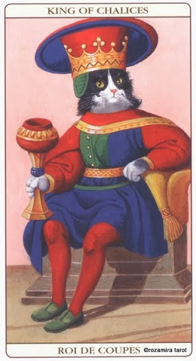 Король Кубков Таро Марсельских кошек (Marseille Cat Tarot)