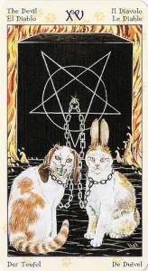 15 Дьявол Таро Языческих Кошек (Tarot of Pagan Cats)