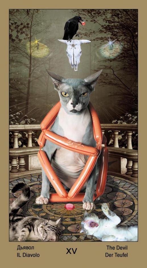 "15 Дьявол Таро ""Катавасия"" (Tarot Cat-A-Vasya)"