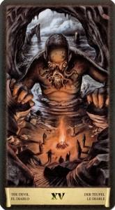 Дьявол Старшие Арканы Таро Черный Гремуар Некрономикон