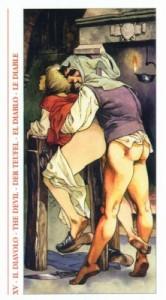 15 Дьявол - Таро Декамерон - галерея карт