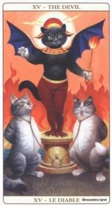 15 Дьявол Таро Марсельских кошек (Marseille Cat Tarot)