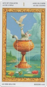 1 Туз Кубков Таро белых кошек (Tarot of White Cats)