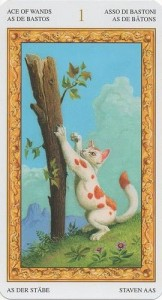 Туз Масть Жезлов Таро белых кошек (Tarot of White Cats)