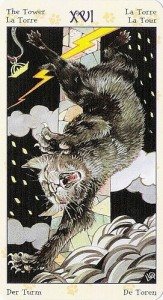 16 Башня Таро Языческих Кошек (Tarot of Pagan Cats)