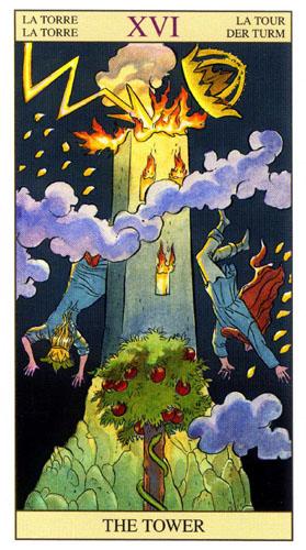 Башня Старшие Арканы Таро Нью Вижн (Tarot of the New Vision)