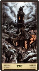 Башня Старшие Арканы Таро Черный Гремуар Некрономикон
