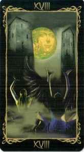18 Луна Таро Темных Ангелов
