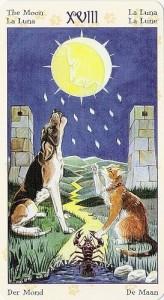 18 Луна Таро Языческих Кошек (Tarot of Pagan Cats)