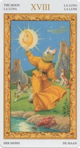 Луна Таро белых кошек (Tarot of White Cats)