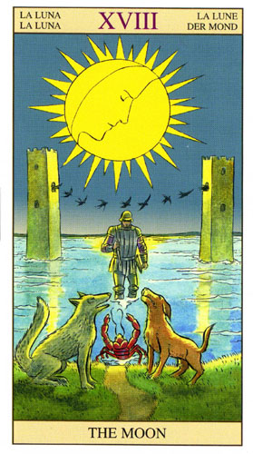Луна Старшие Арканы Таро Нью Вижн (Tarot of the New Vision)