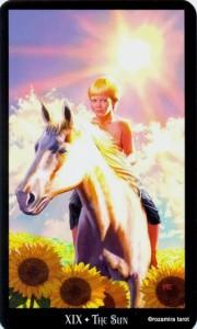 19 Солнце Колдовское Таро Элен Дюген