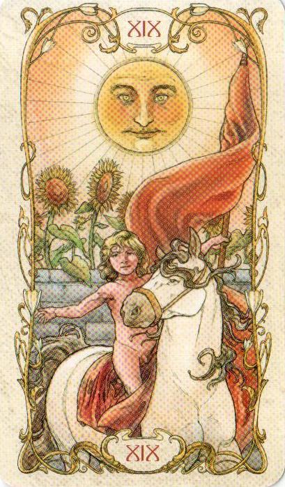 19 Солнце Таро Альфонса Мухи MUCHA TAROT