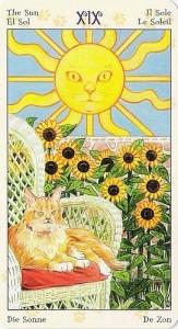 19 Солнце Таро Языческих Кошек (Tarot of Pagan Cats)