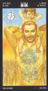 19 Солнце - Таро Таттуаж - галерея карт