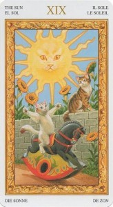Солнце Таро белых кошек (Tarot of White Cats)