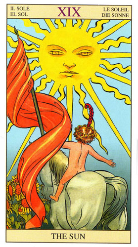 Солнце Старшие Арканы Таро Нью Вижн (Tarot of the New Vision)