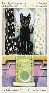 2 Жрица Таро Языческих Кошек (Tarot of Pagan Cats)