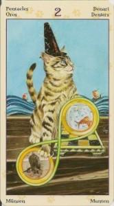 2 Масть Пентаклей Таро Языческих Кошек (Tarot of Pagan Cats)