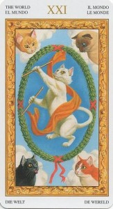 21 Мир Таро белых кошек (Tarot of White Cats)
