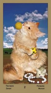 """2 Масть Пентаклей Таро """"Катавасия"""" (Tarot Cat-A-Vasya)"""