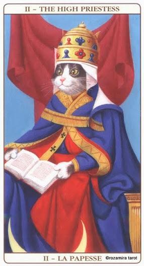 Жрица Таро Марсельских кошек (Marseille Cat Tarot)