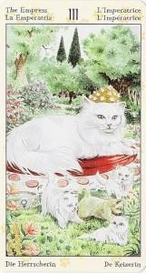 3 Императрица Таро Языческих Кошек (Tarot of Pagan Cats)
