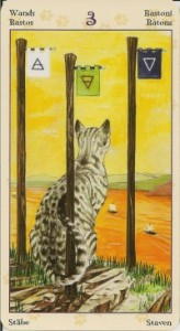 3 Масть Жезлов Таро Языческих Кошек (Tarot of Pagan Cats)