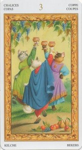 3 Масть Кубков Таро белых кошек (Tarot of White Cats)