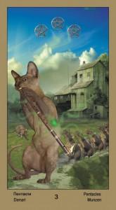 """3 Масть Пентаклей Таро """"Катавасия"""" (Tarot Cat-A-Vasya)"""