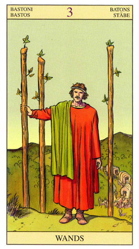 3 Масть Жезлов Таро Нью Вижн (Tarot of the New Vision)