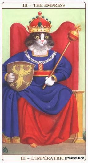 Императрица Таро Марсельских кошек (Marseille Cat Tarot)